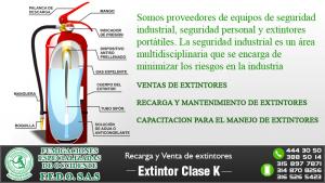 Extintor Clase K | Recarga y Venta de extintores en Cali